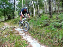 Getting some air on the MBR trail at Coed-y-Brenin