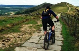 mountain biking mam tor peak district