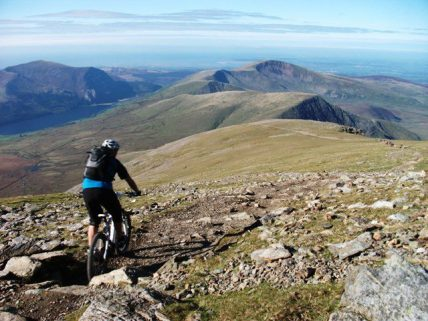Snowdon bike ride